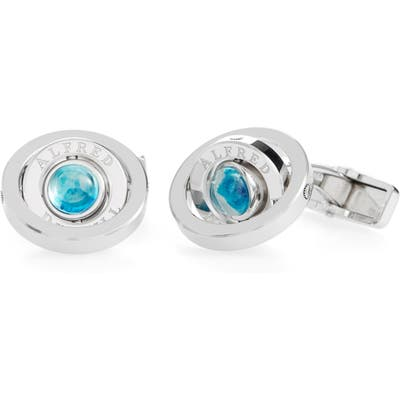 Dunhill Radial Gyro Blue Topaz Cuff Links