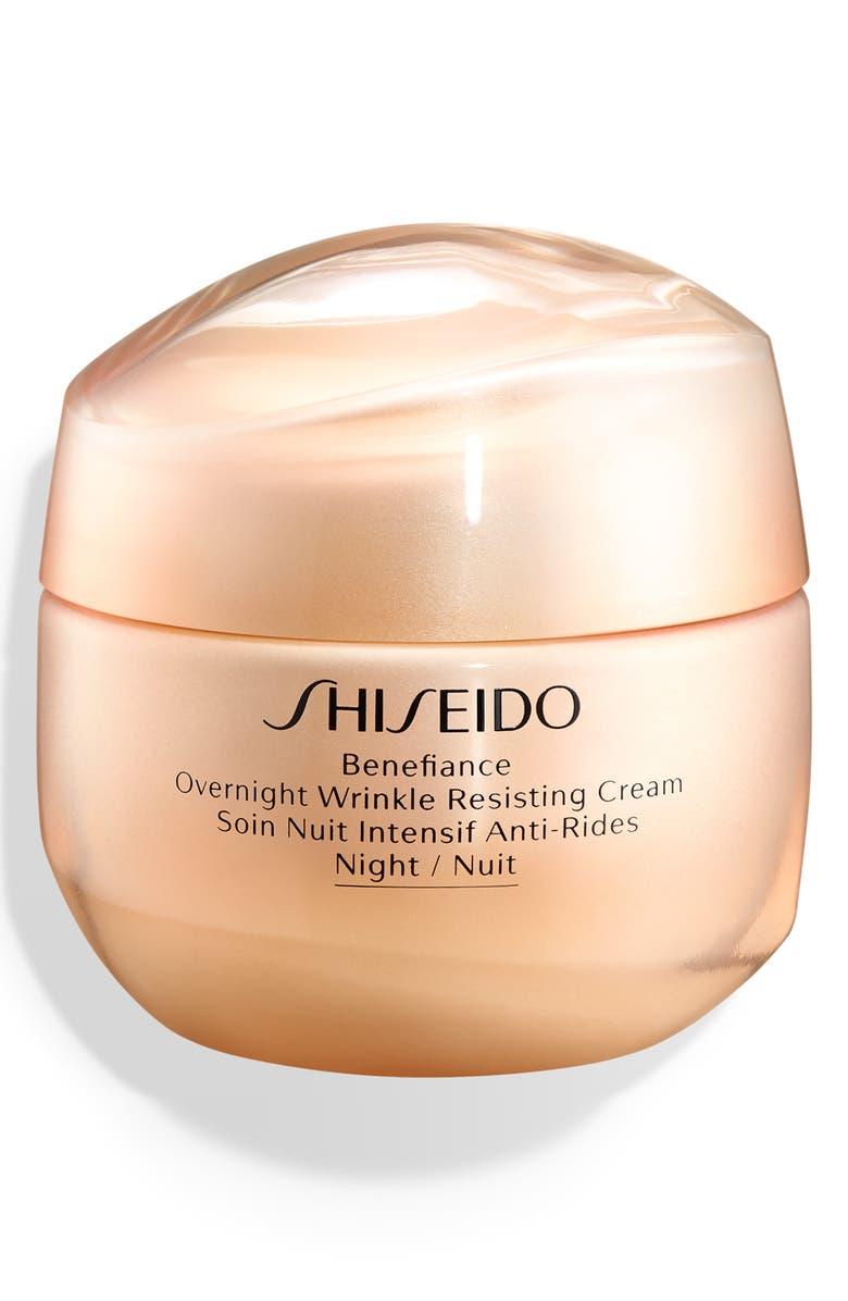 SHISEIDO Benefiance Overnight Wrinkle Resisting Cream, Main, color, NO COLOR
