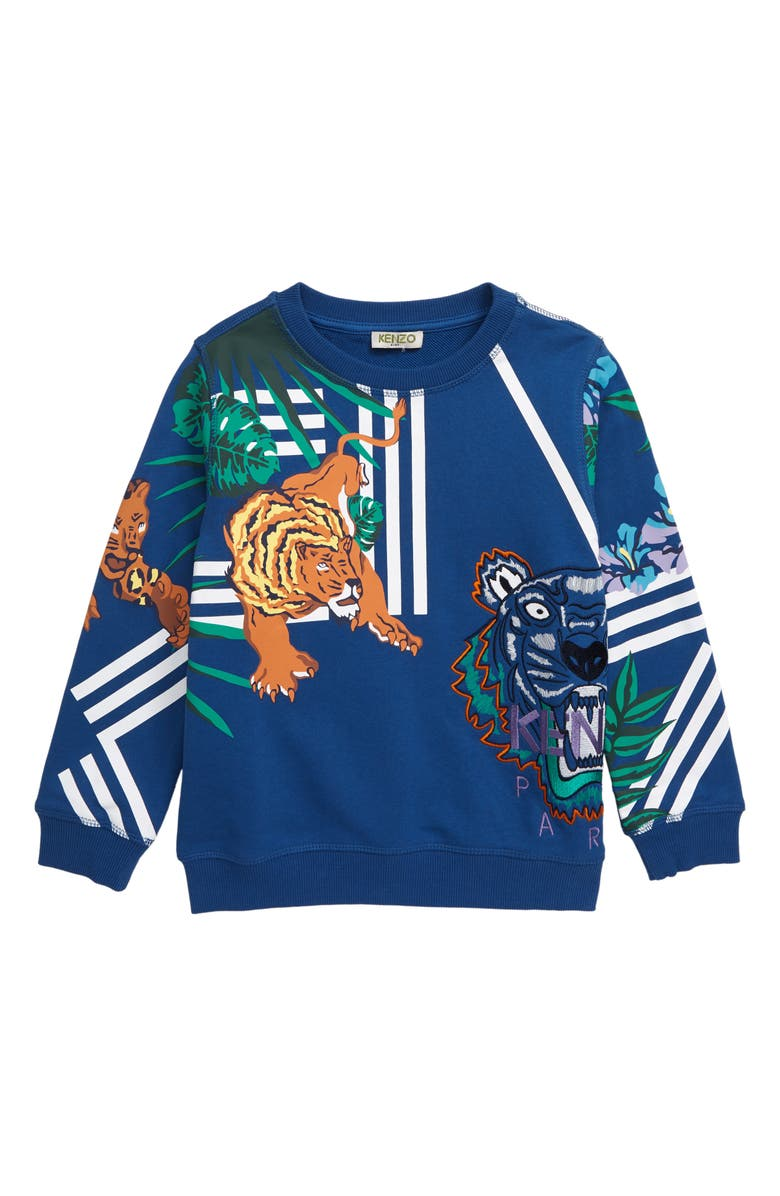 KENZO Iconics Sweatshirt, Main, color, BRIGHT BLUE