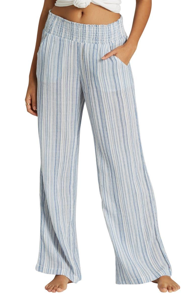 d68aff102a New Waves Stripe Wide Leg Pants, Main, color, BLUE TIDE