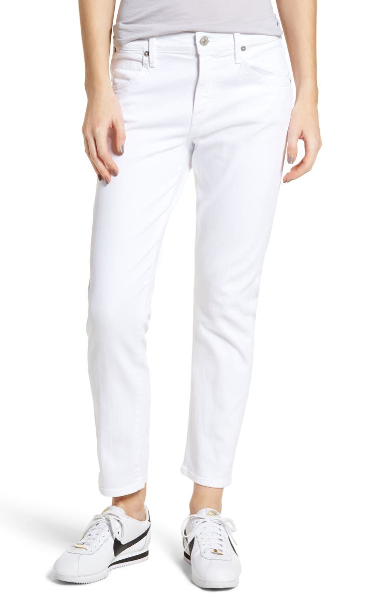 CITIZENS OF HUMANITY Elsa Crop Slim Jeans, Main, color, OPTIC WHITE