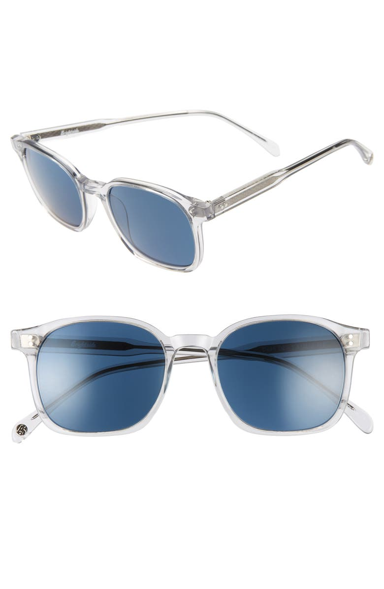 BRIGHTSIDE Dean 51mm Square Sunglasses, Main, color, GREY CRYSTAL/ INDIGO BLUE