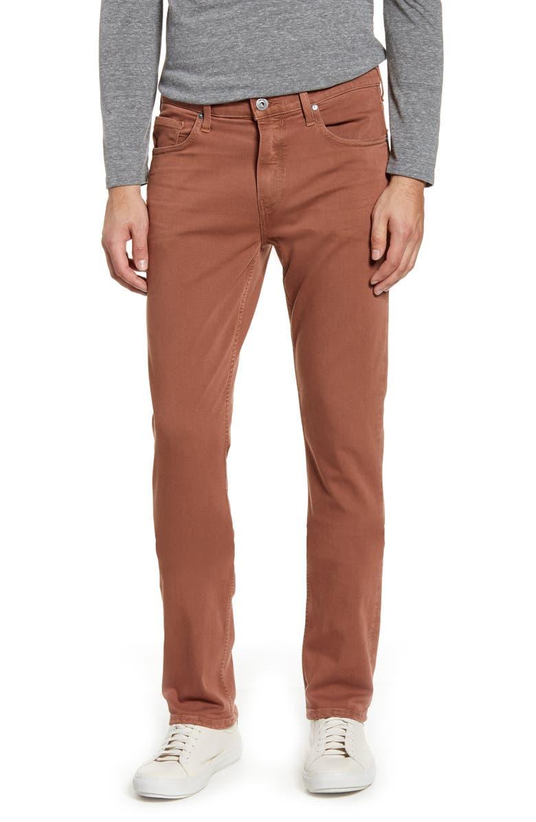 PAIGE Transcend Federal Slim Straight Leg Jeans, Main, color, VINTAGE COPPER SUN