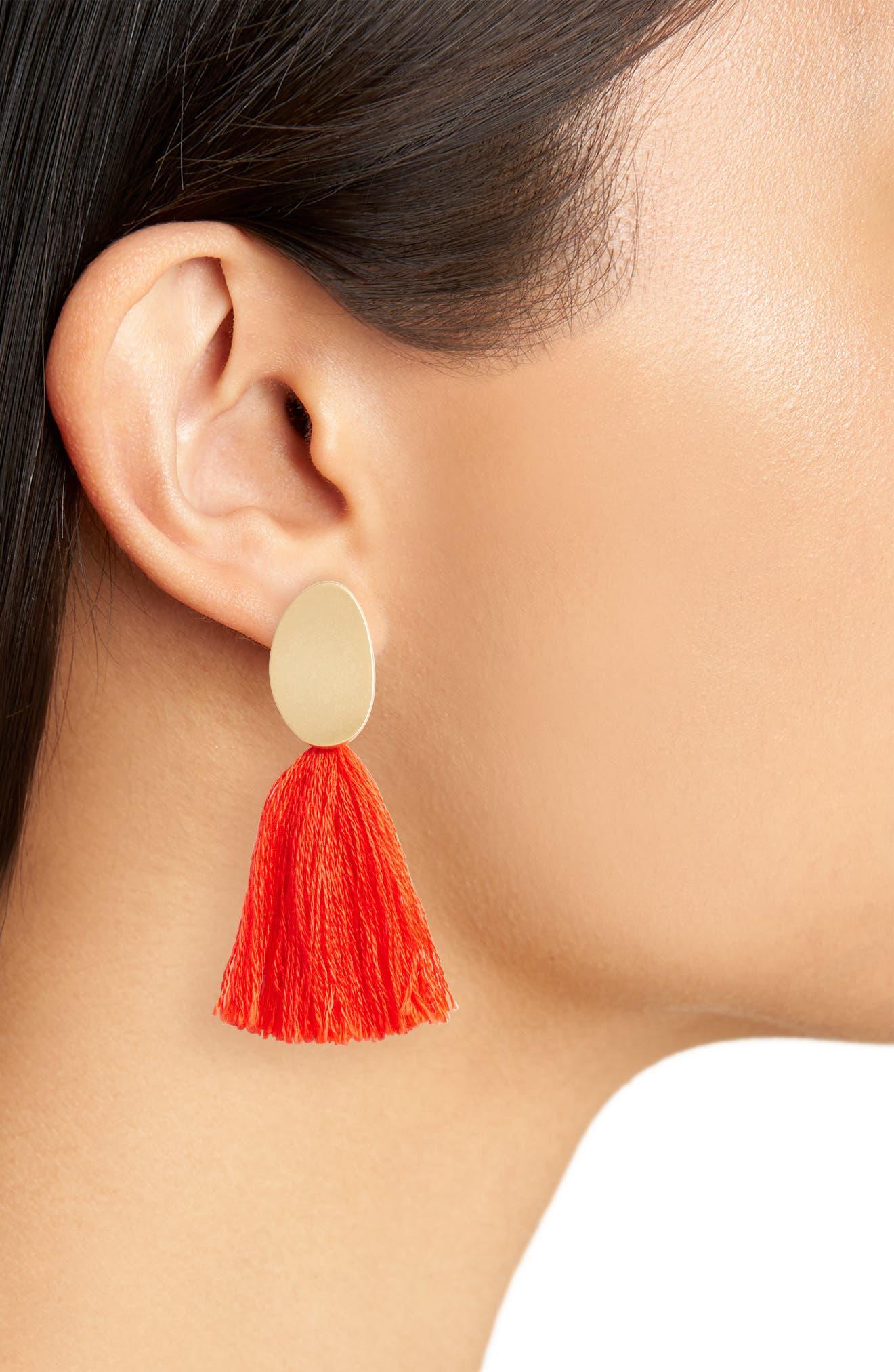 ,                             Curved Tassel Earrings,                             Alternate thumbnail 11, color,                             650