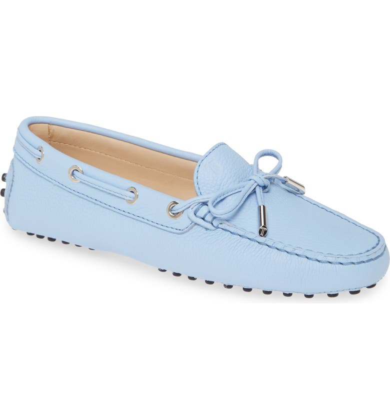 TOD'S Laccetto Gommini Driving Loafer, Main, color, PLACID BLUE