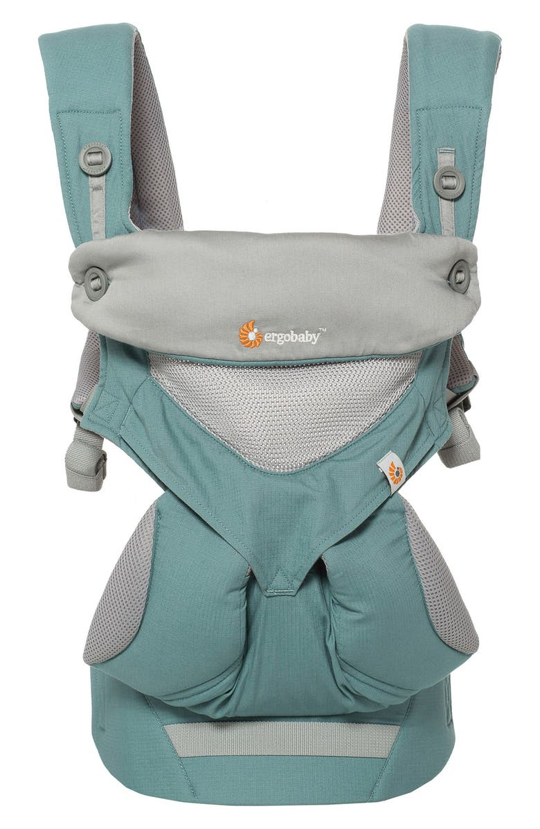 ERGOBABY Four Position 360 - Cool Air Baby Carrier, Main, color, GREEN/ LIGHT GREY