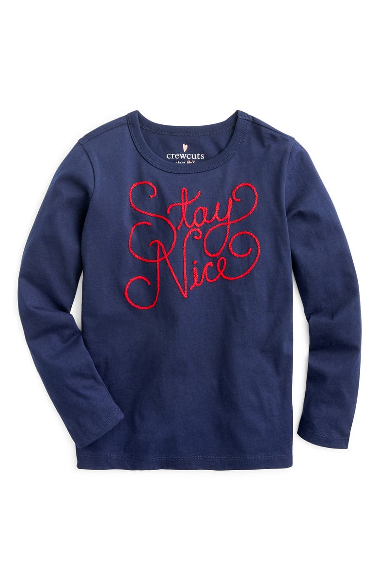 CREWCUTS BY J.CREW Stay Nice Long Sleeve Tee, Main, color, 400