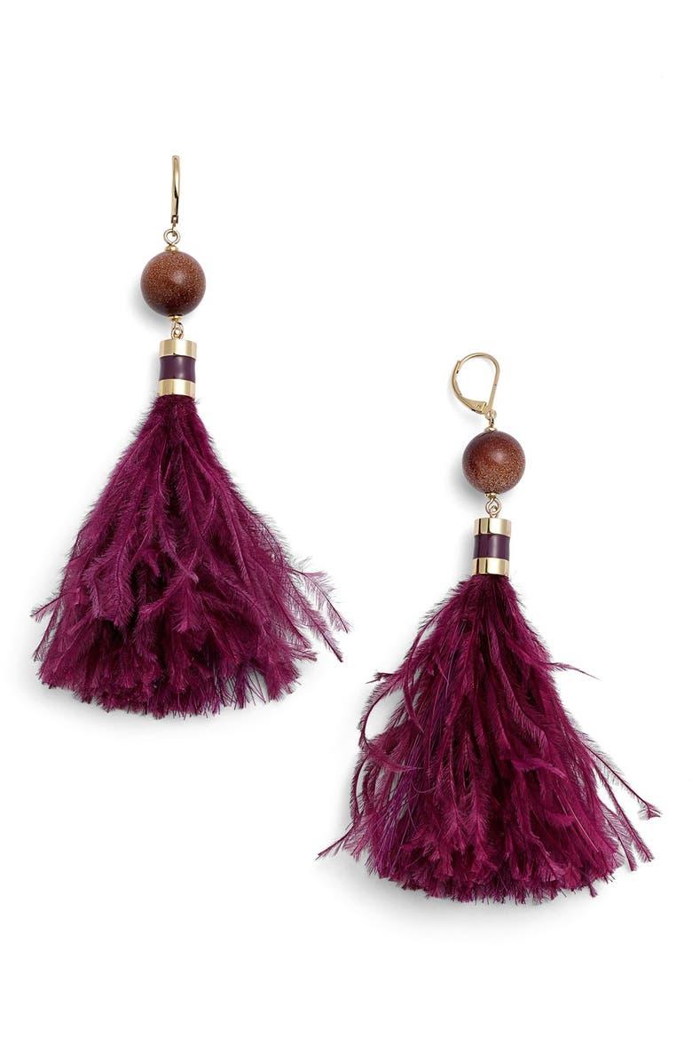 KATE SPADE NEW YORK 'swing time' tassel earrings, Main, color, 500
