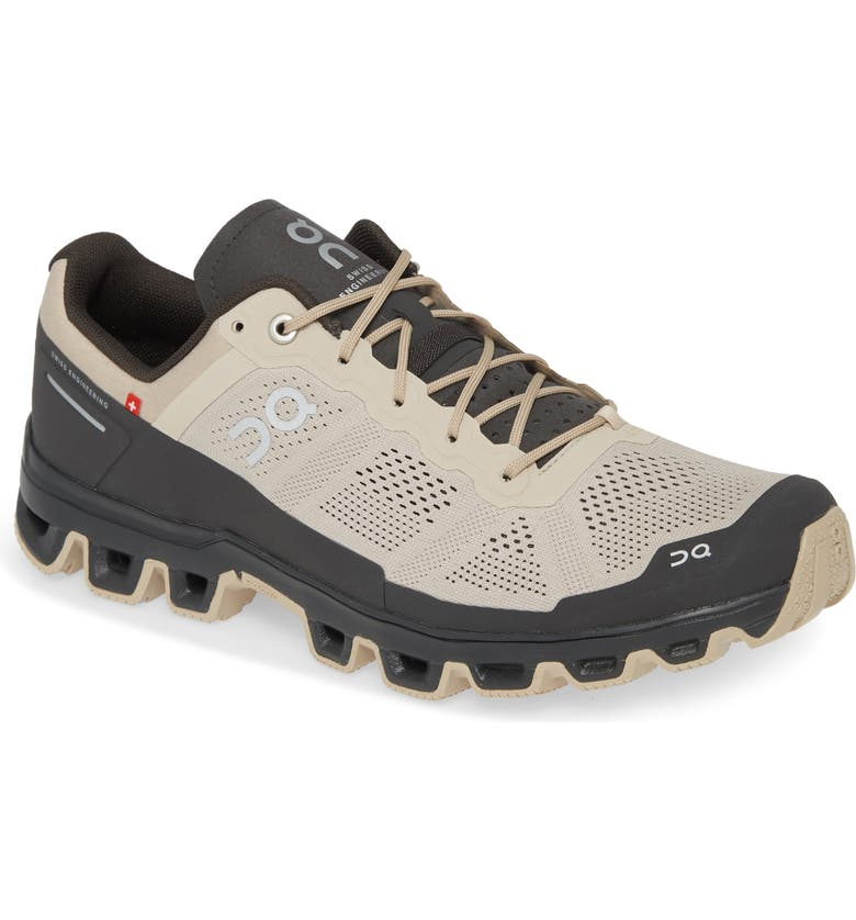 ON Cloudventure Water Repellent Trail Running Shoe, Main, color, SAND/ SHADOW