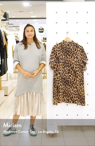 Jude Leopard Print Tunic Dress, sales video thumbnail