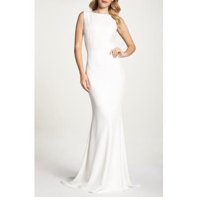 Noel And Jean By Katie May Theo Low Back Crepe Mermaid Gown