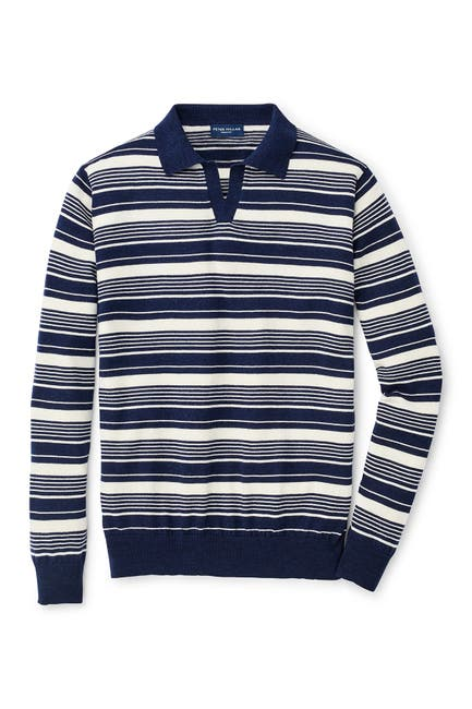 Image of Peter Millar Spring Sails Riviera Collar Wool Blend Sweater