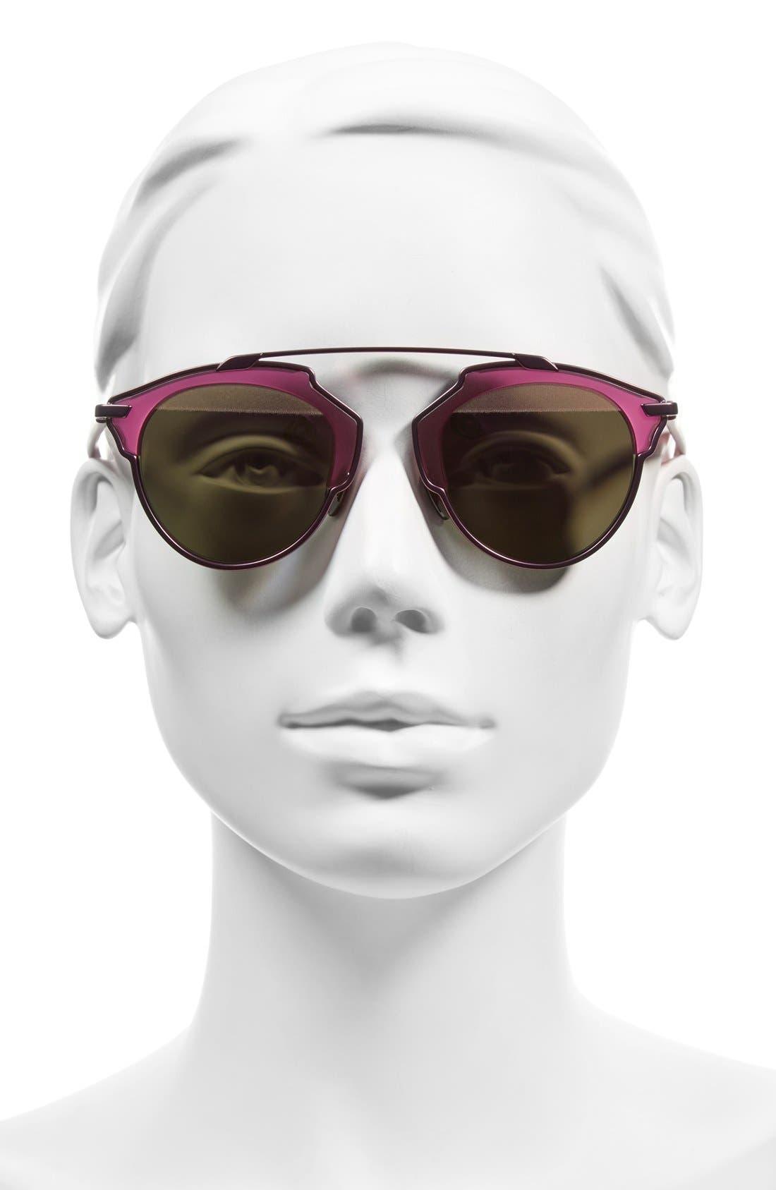 ,                             So Real 48mm Brow Bar Sunglasses,                             Alternate thumbnail 58, color,                             511