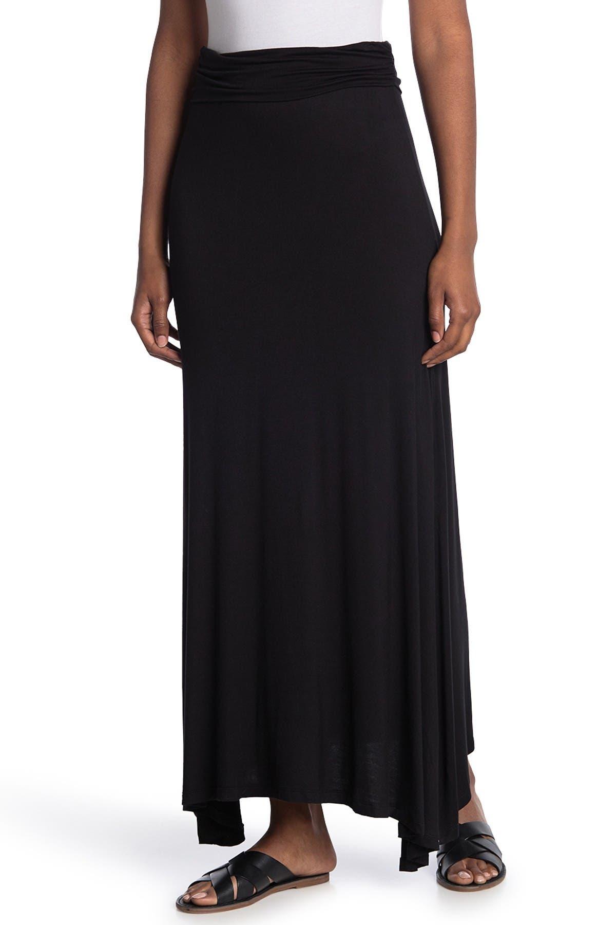 Image of Bobeau Side Slit Maxi Skirt