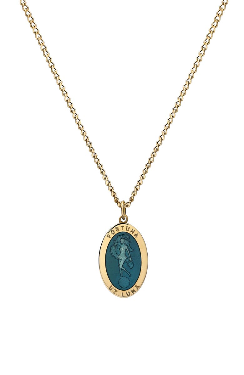 MIANSAI Fortuna Pendant Necklace, Main, color, TEAL