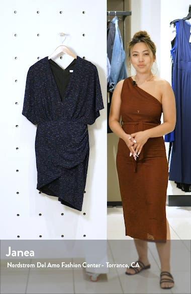 Metallic Dolman Sleeve Cocktail Dress, sales video thumbnail
