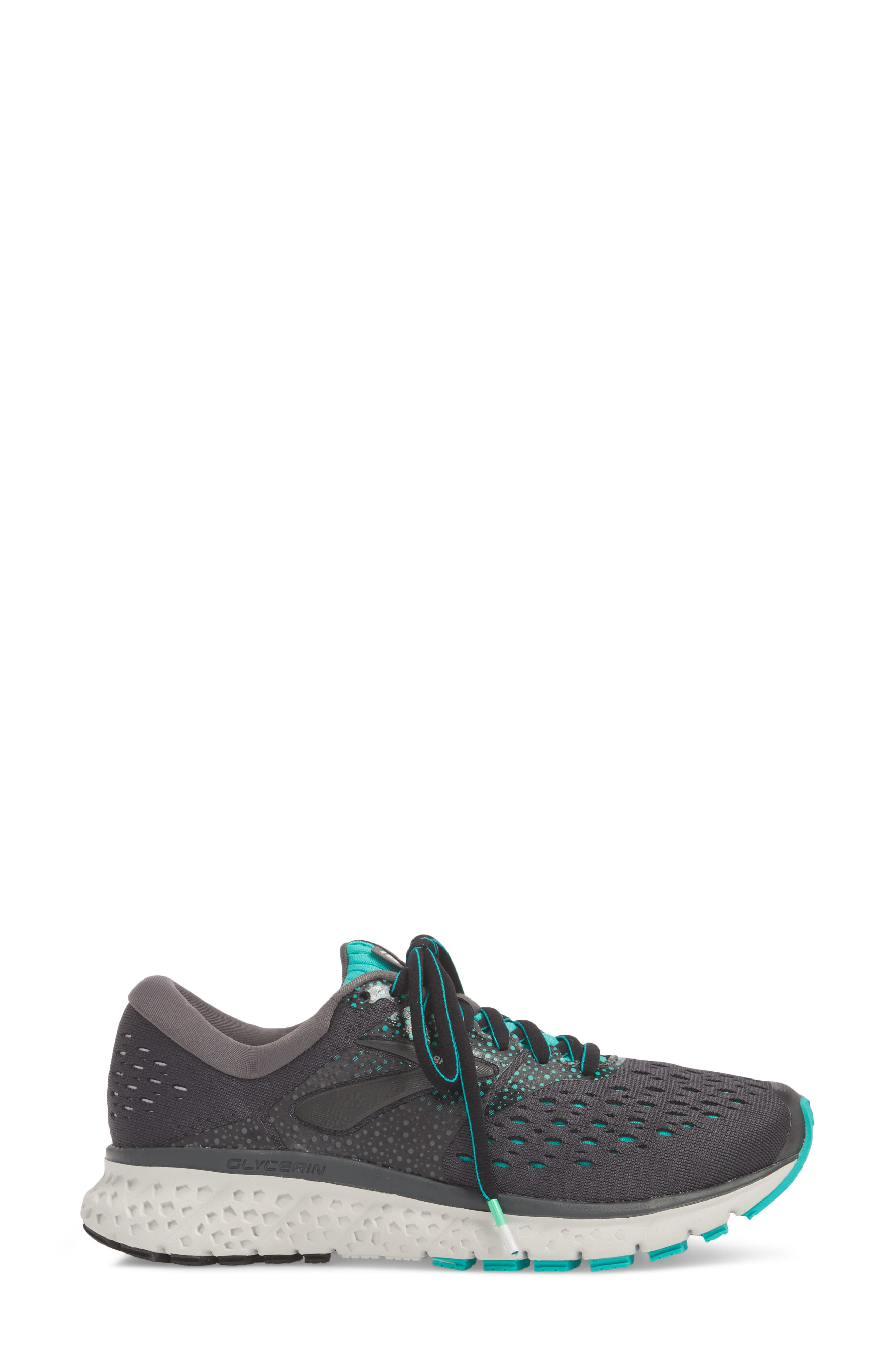 ,                             Glycerin 16 Running Shoe,                             Alternate thumbnail 3, color,                             EBONY/ GREEN/ BLACK