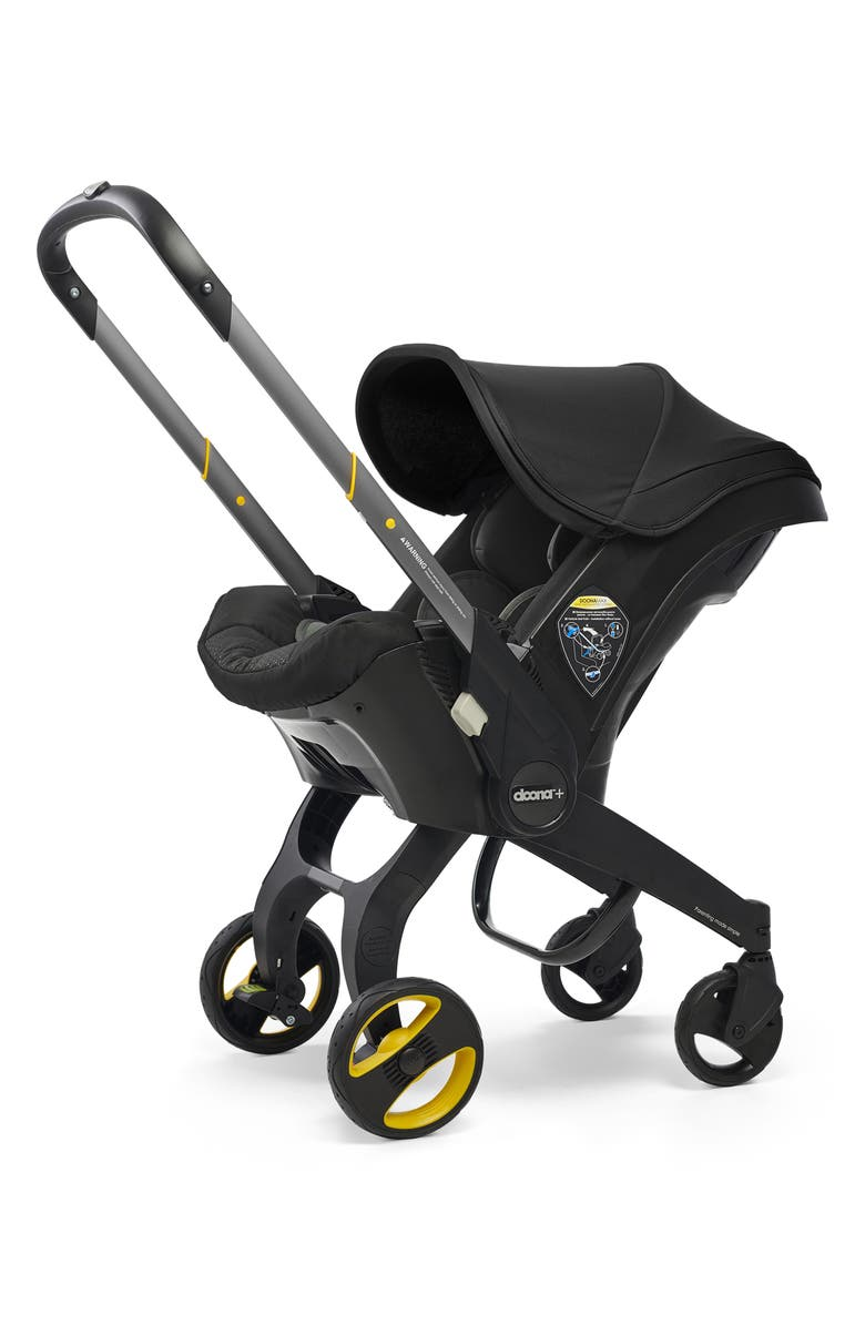 DOONA Convertible Infant Car Seat/Compact Stroller System with Base, Main, color, BLACK/NIGHT