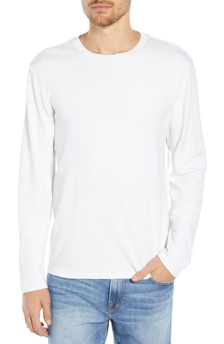 FRAME Raw Hem Slim Fit Crewneck T-Shirt, Main, color, 120