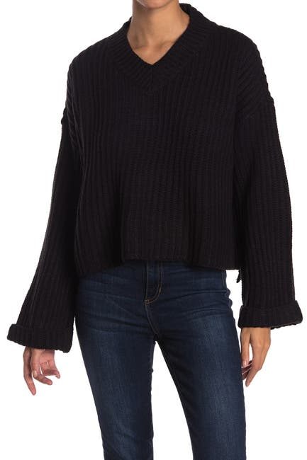 Image of RAG SUPPLY V-Neck Dolman Sleeve Pullover Sweater