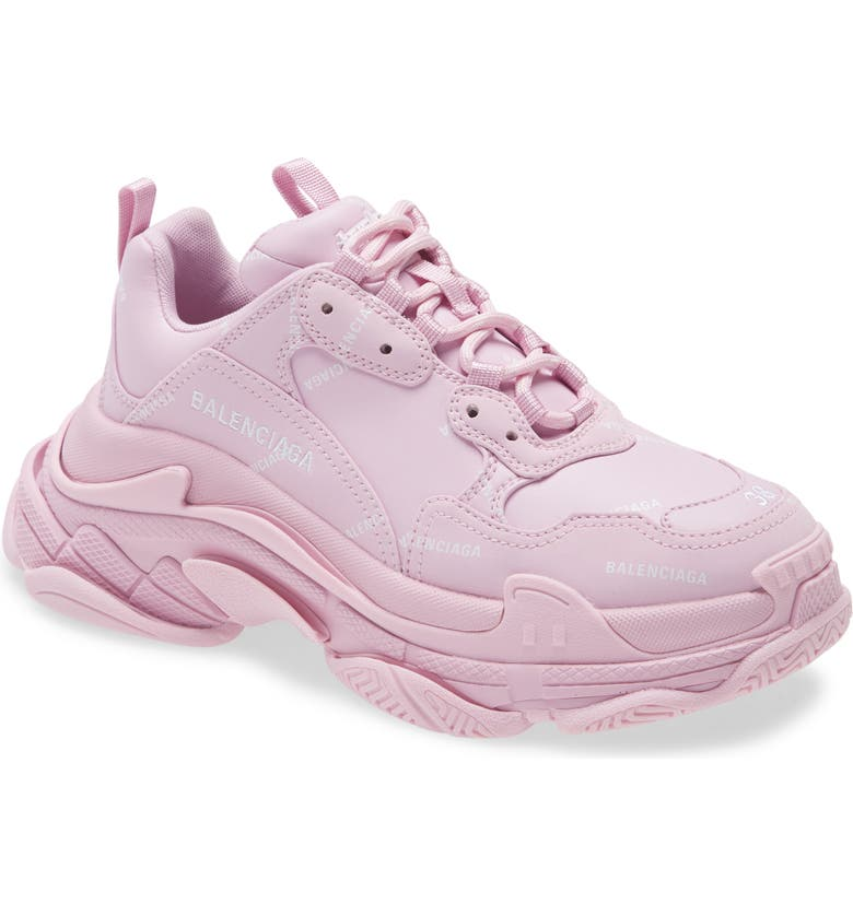 BALENCIAGA Triple S Low Top Sneaker, Main, color, PINK/ WHITE