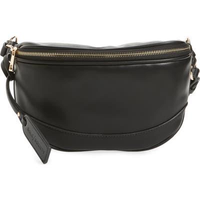 Sole Society Audrey Faux Leather Belt Bag - Black