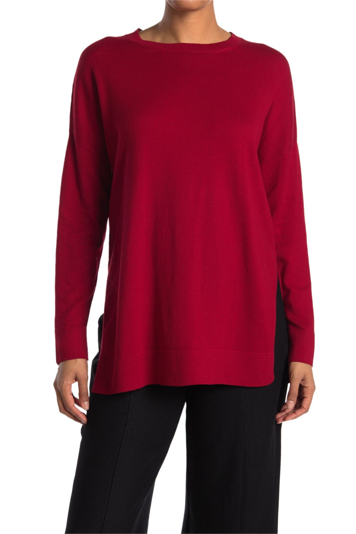Image of Eileen Fisher Boatneck Boxy Knit Top