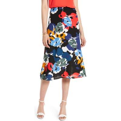 Petite Halogen Midi Skirt, Black