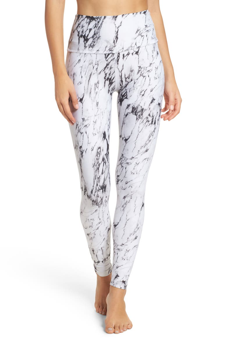 BEYOND YOGA High Waist Print Leggings, Main, color, 100