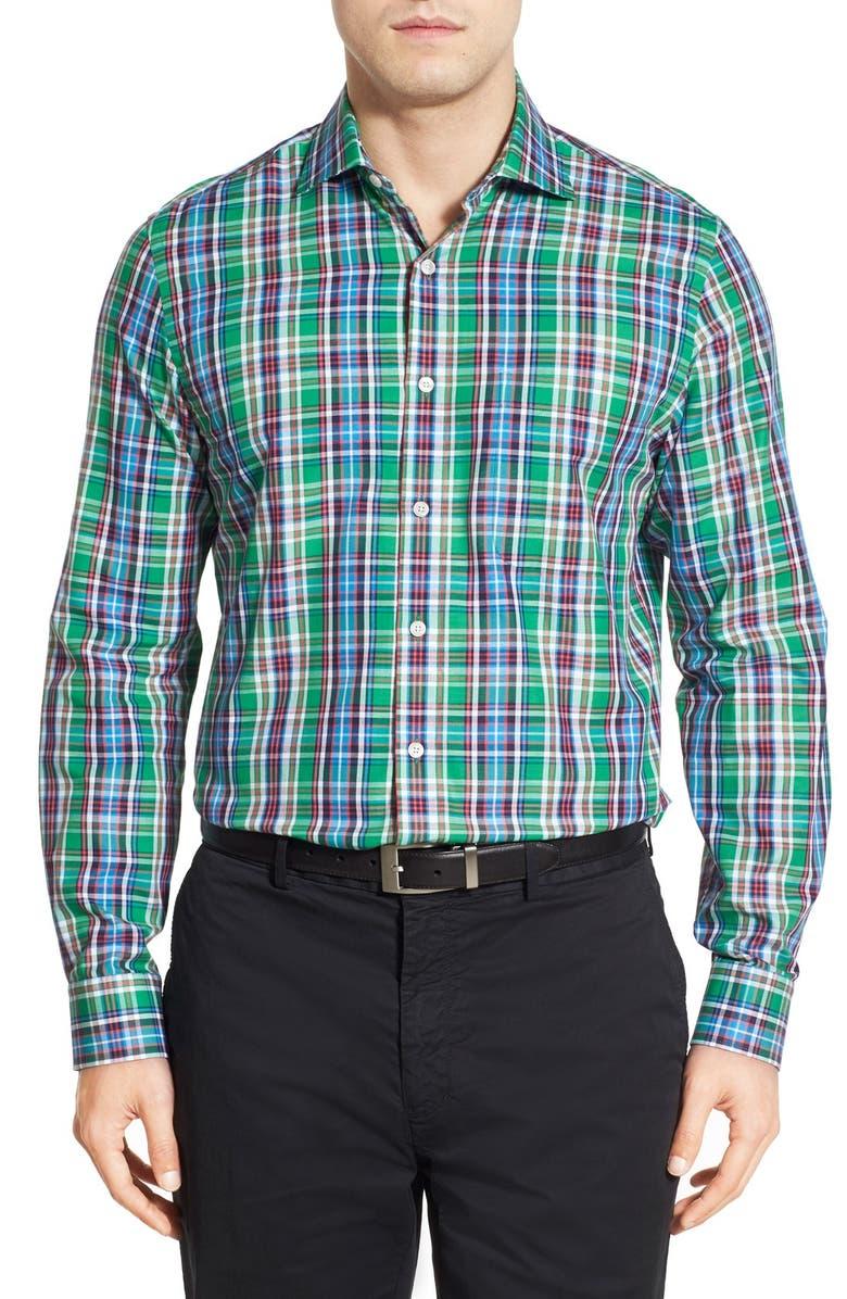 Bobby Jones 'Terminus' Regular Fit Long Sleeve Plaid Sport