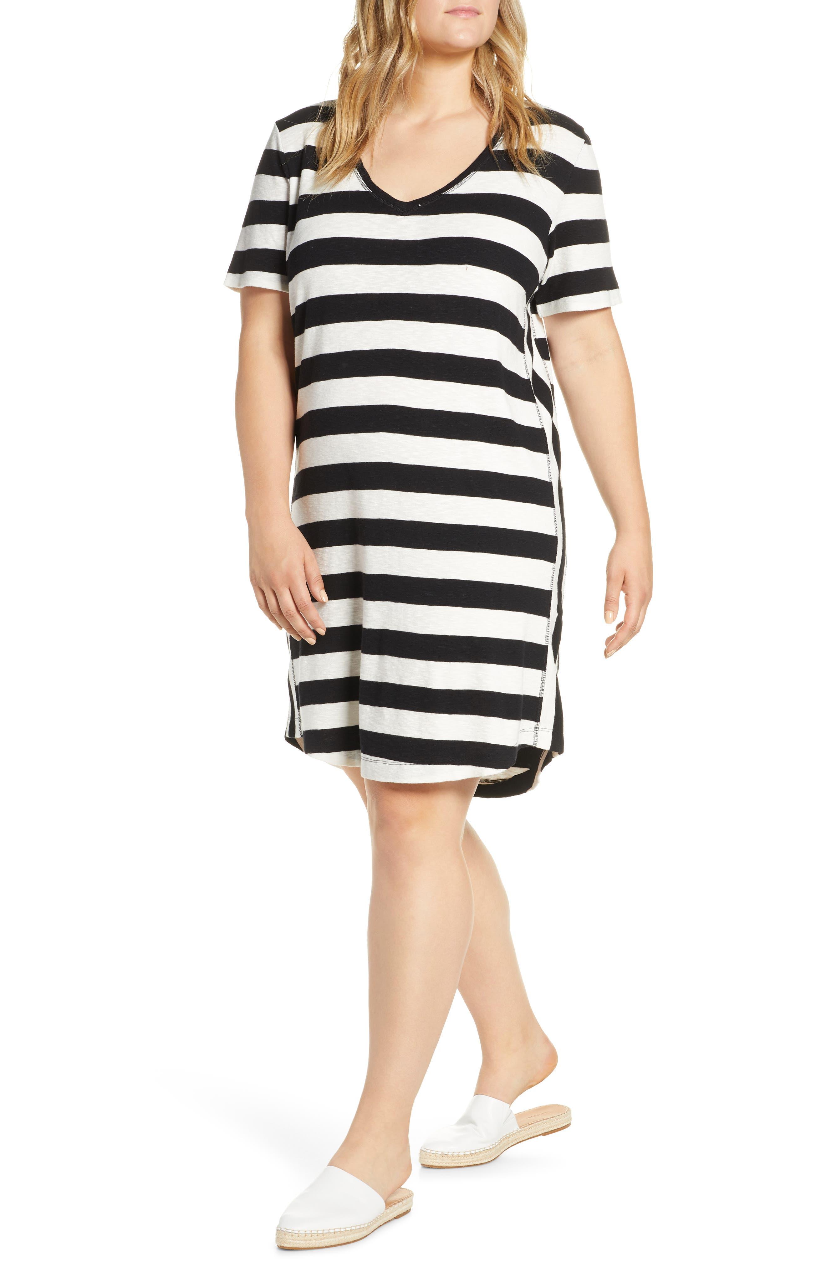 ,                             Slub Knit Dress,                             Alternate thumbnail 12, color,                             002