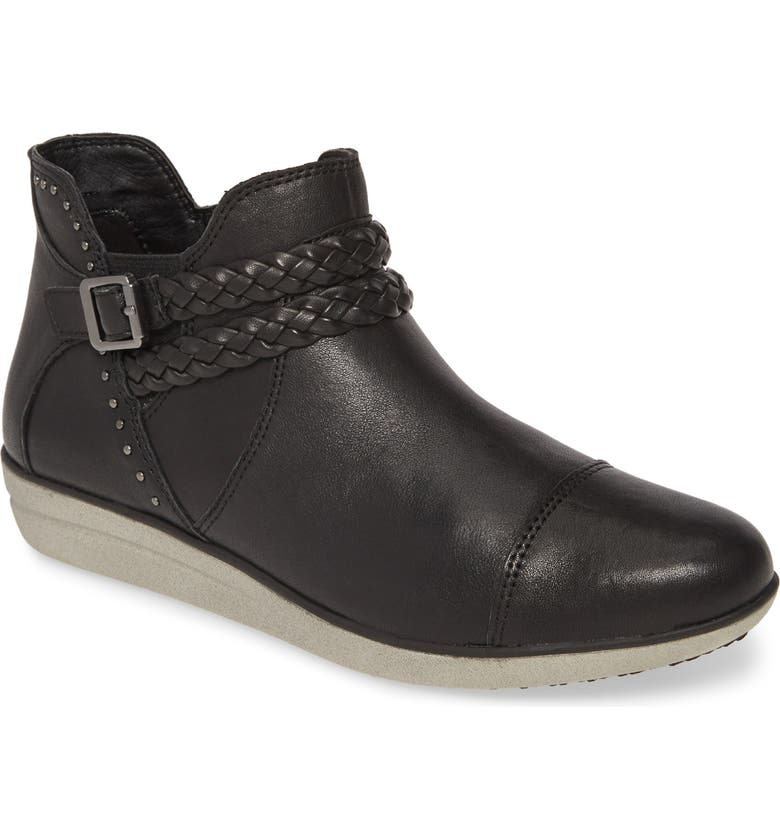 AETREX Whitney Bootie, Main, color, BLACK LEATHER