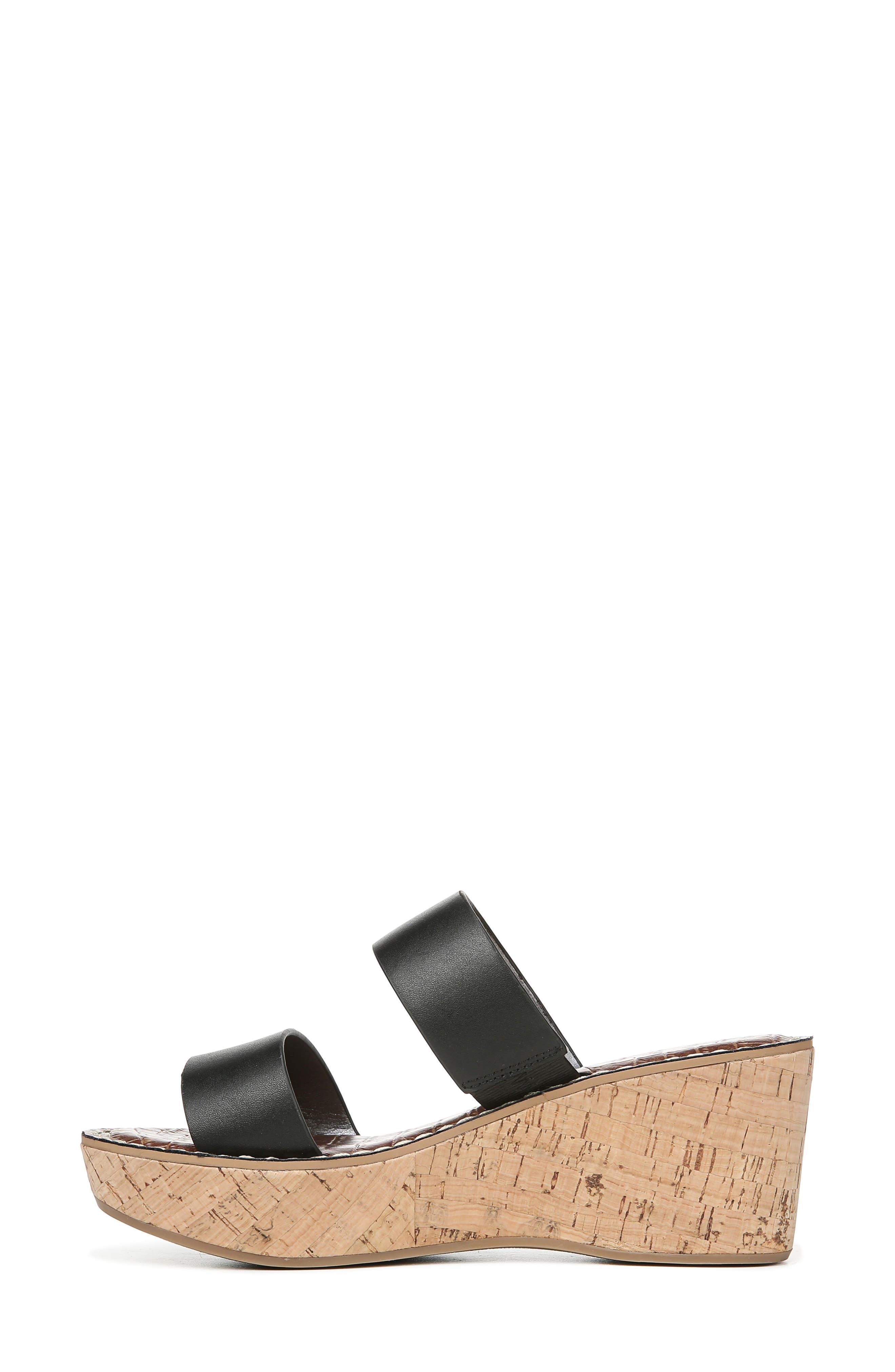 ,                             Rydell Platform Slide Sandal,                             Alternate thumbnail 7, color,                             BLACK LEATHER