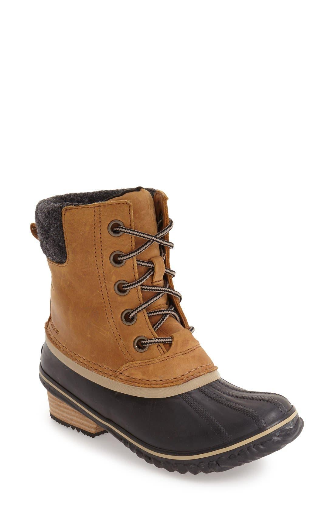 Sorel Slimpack Ii Waterproof Boot- Brown