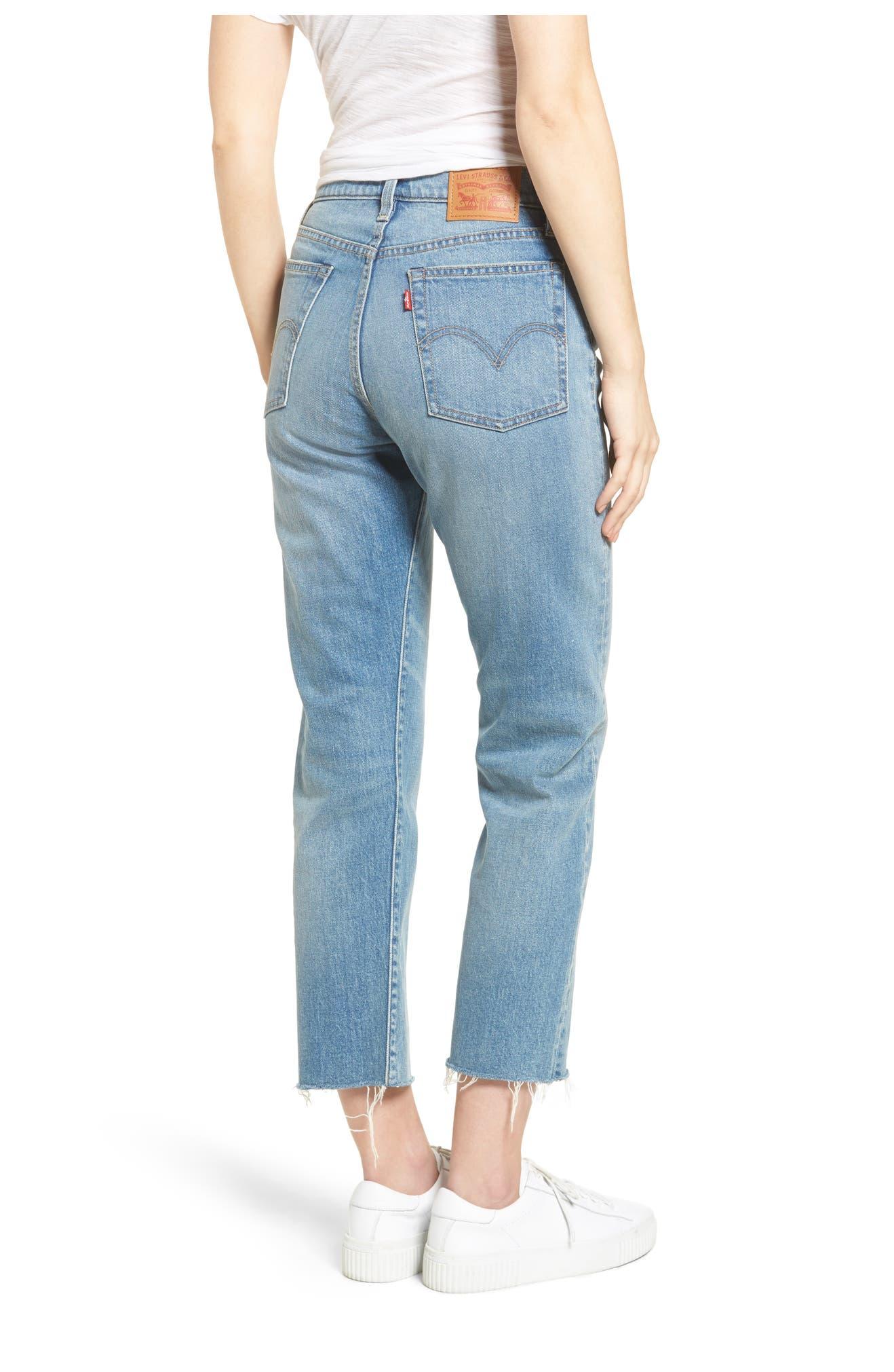 Wedgie Crop Leg Leg Straight Crop Jeans Straight Wedgie Jeans L3Ajq4R5