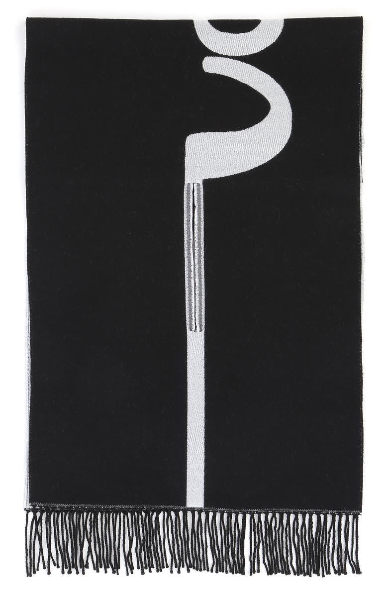 VALENTINO GARAVANI Signature Stripe Wool Jacquard Scarf, Main, color, 003