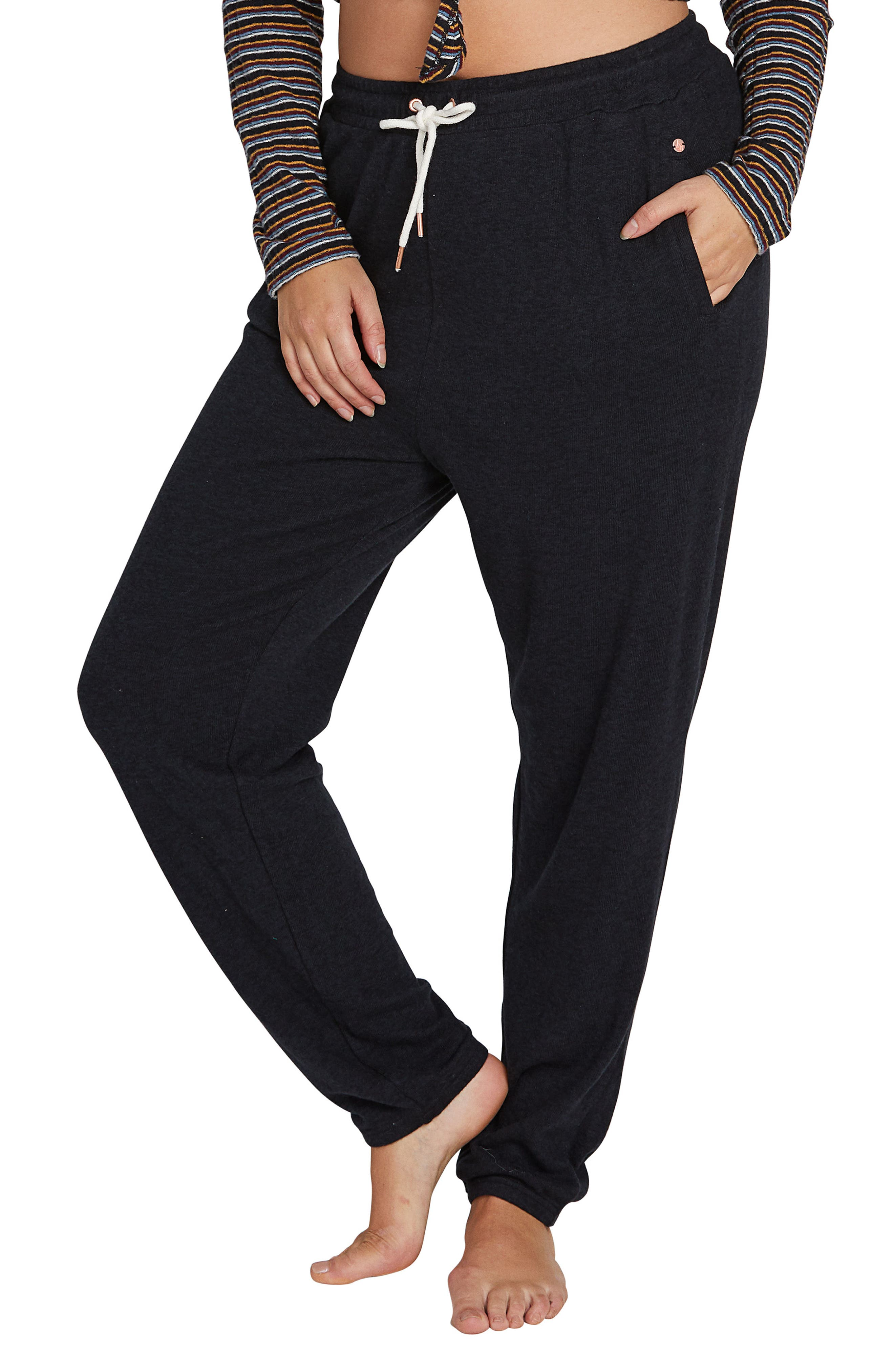 Whether you\\\'re relaxing or running errands, these easy fleece pants with a comfy drawstring waist are what you\\\'ll reach for. Style Name: Volcom Lil Fleece Pants (Plus Size). Style Number: 5775297. Available in stores.