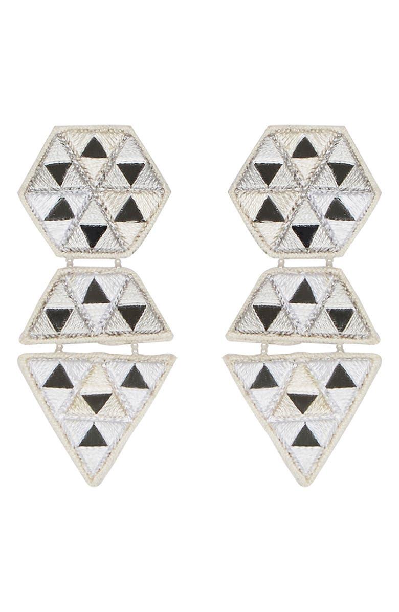 MIGNONNE GAVIGAN Megan Drop Earrings, Main, color, WHITE