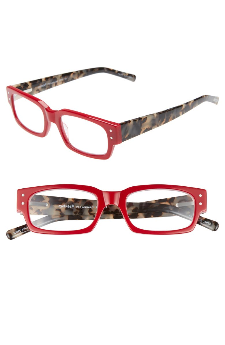 EYEBOBS Peckerhead 50mm Reading Glasses, Main, color, RED