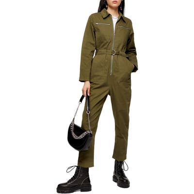Topshop Mabel Utility Jumpsuit, US (fits like 0) - Green