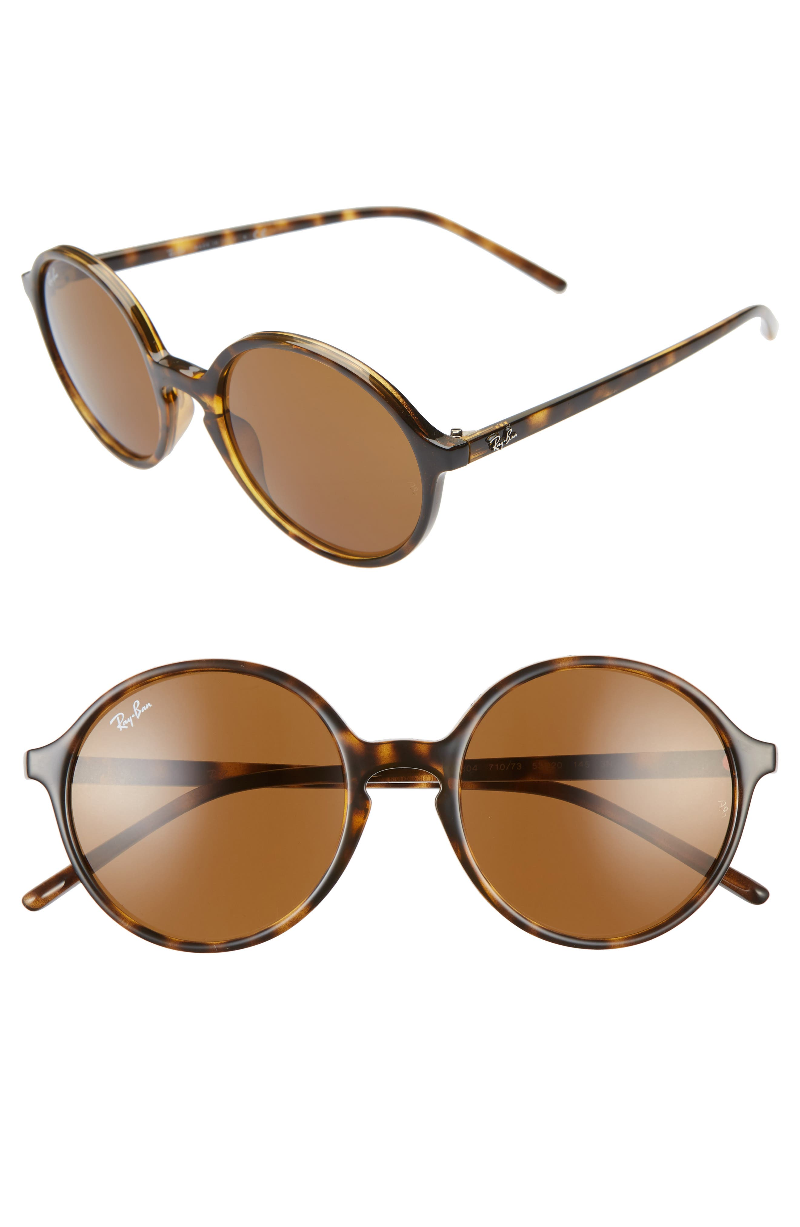 2133c26f2 Ray-Ban 5m Round Sunglasses - Havana/ Brown Solid