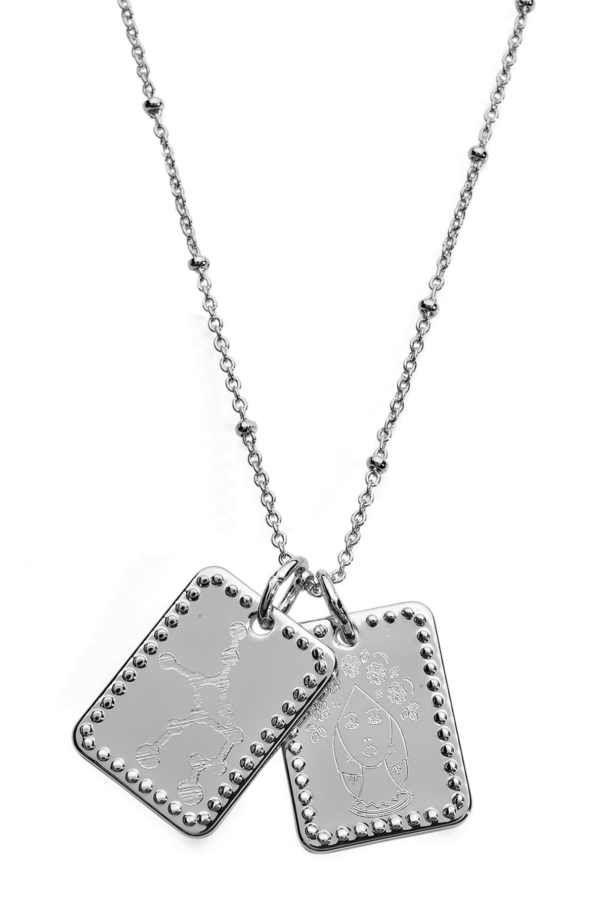 Image of Sterling Forever Rhodium Plated Brass Zodiac Tag Necklace - Virgo