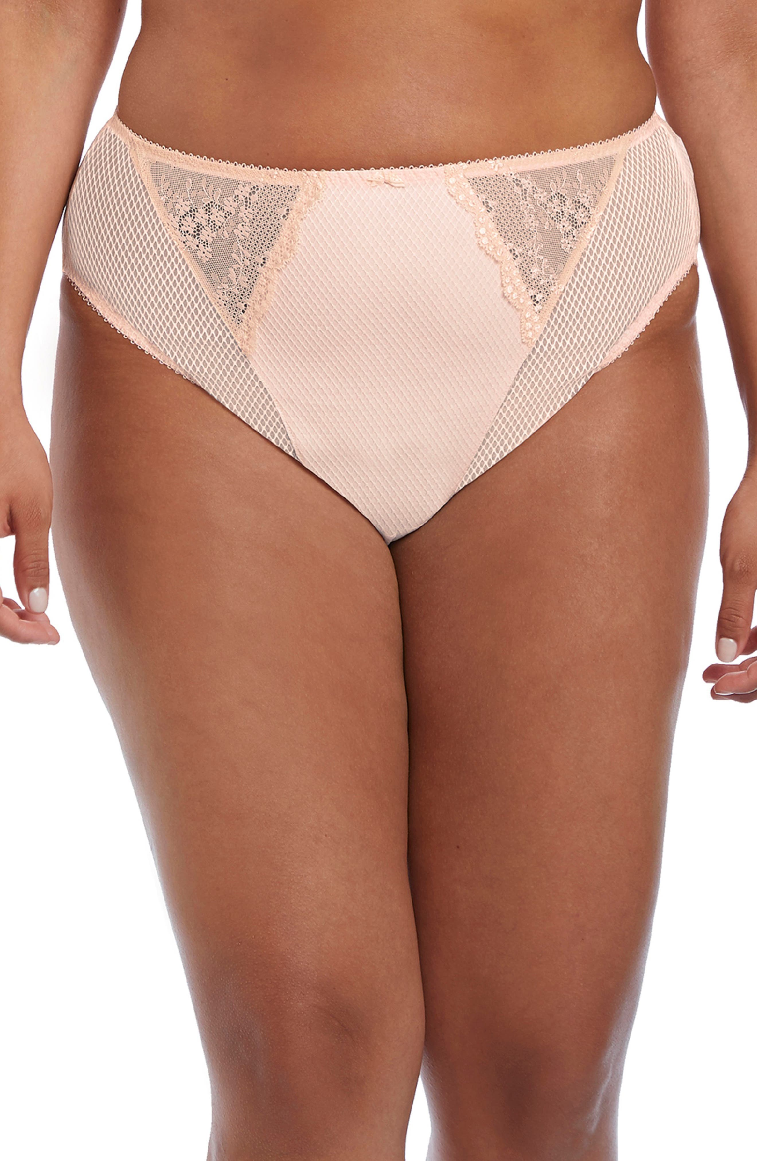 Diamond mesh and lace add a dash of everyday glamour to these high-cut briefs. Style Name: Elomi Charley High Cut Briefs. Style Number: 5996443. Available in stores.