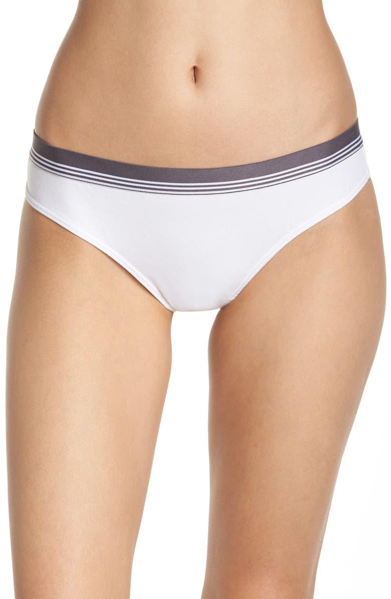 BP. Sporty Stripe Thong, Main, color, WHITE