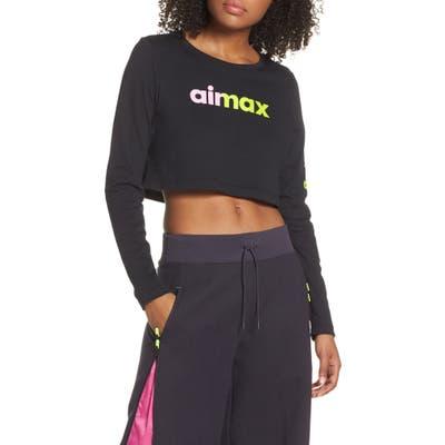 Nike Essential Crop Top, Black