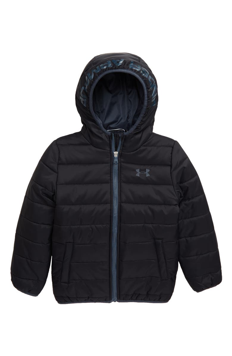 UNDER ARMOUR Pronto Storm ColdGear<sup>®</sup> Hooded Jacket, Main, color, BLACK