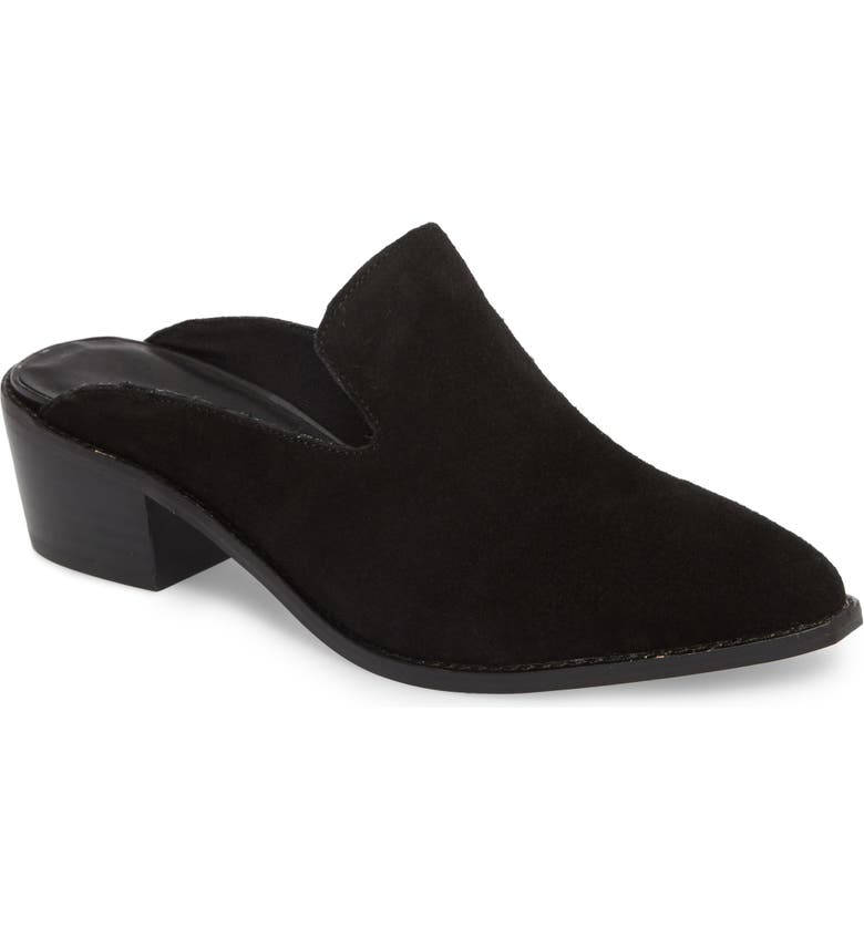 CHINESE LAUNDRY Marnie Loafer Mule, Main, color, BLACK SUEDE