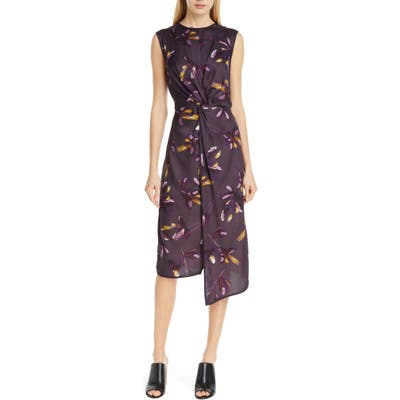 Judith & Charles Chroma Sleeveless Midi Dress, Purple