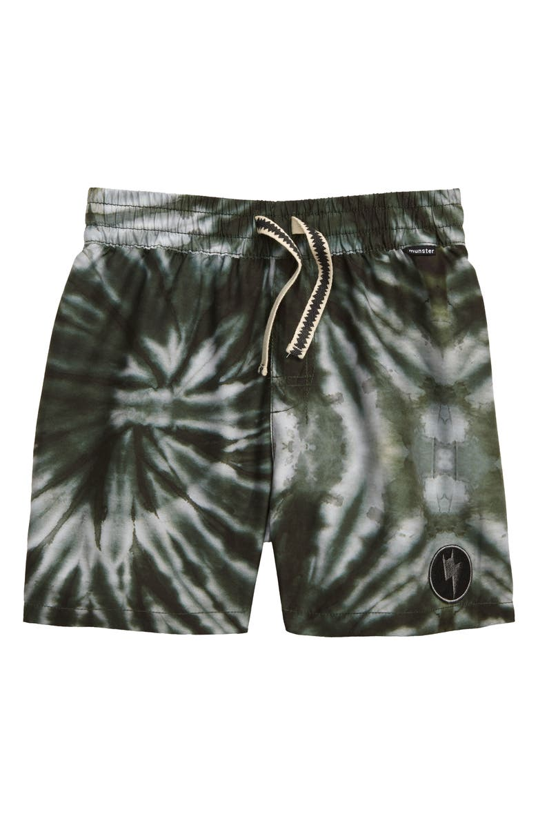 MUNSTERKIDS X-Ray Board Shorts, Main, color, GREEN DYE