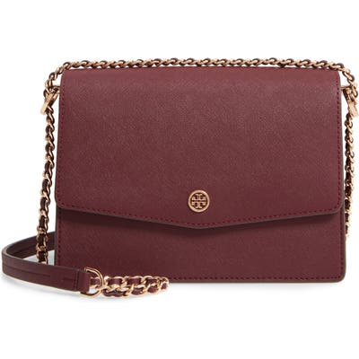 Tory Burch Robinson Leather Convertible Shoulder Bag - Red
